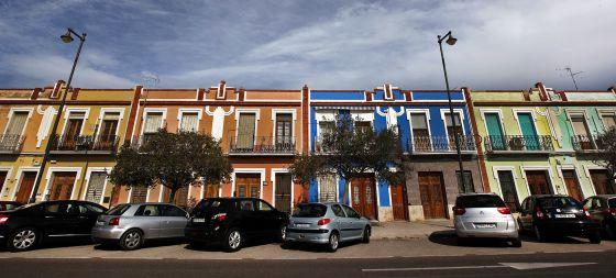 Casas de El Cabanyal afectadas por el plan del Ayuntamiento.