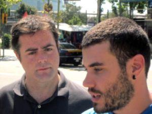 Sergi Massó, a la derecha, junto a Uriel Bertran.