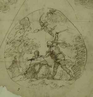 Dibujo de Palomino que inspiró los frescos de San Nicolás.