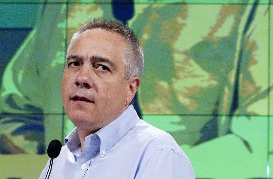 El líder del PSC, Pere Navarro, durante su intervención