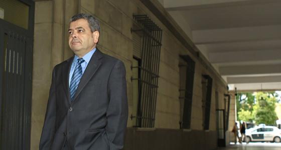 Agustín Barberá, a su llegada a los juzgados de Sevilla.