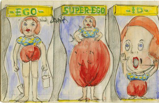 Dibujo de Albert Grass para los espejos de la mente.