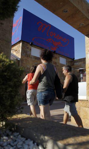 Entrada del restaurante marisquería Moreno II, en Móstoles (Madrid).
