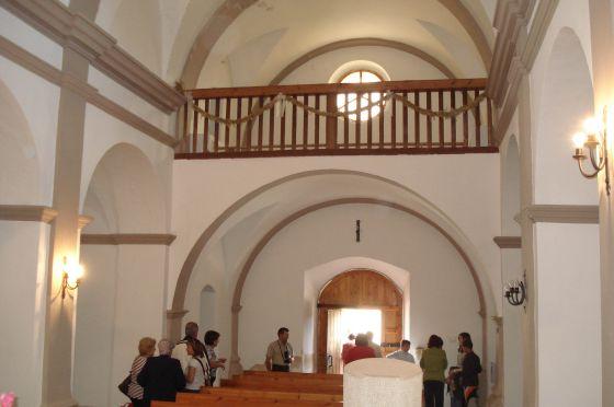 Interior de la iglesia parroquia de L'Ametlla del Montsec.