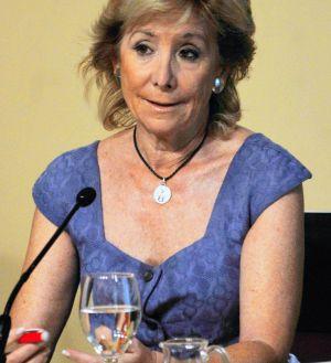 Esperanza Aguirre, tras el Consejo de Gobierno.