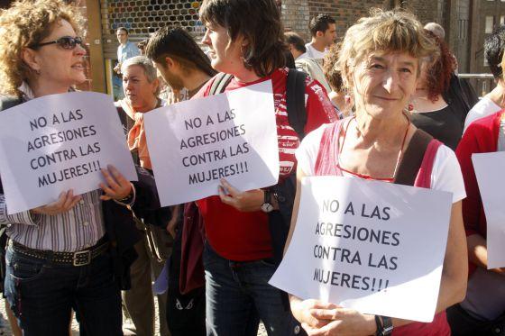 Concentración contra la violencia machista en Bilbao