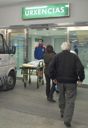 Servicio de urgencias en el hospital de Ourense.