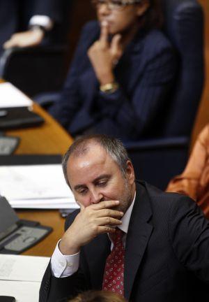 Jorge Cabré, en una sesión en las Cortes.