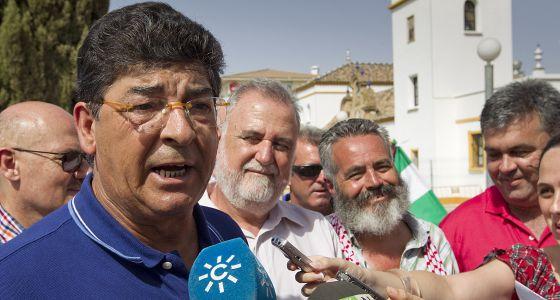 Valderas, durante el acto de homenaje a Blas Infante.