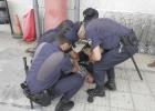 Manifestación de periodistas por la detención de un compañero en Vigo