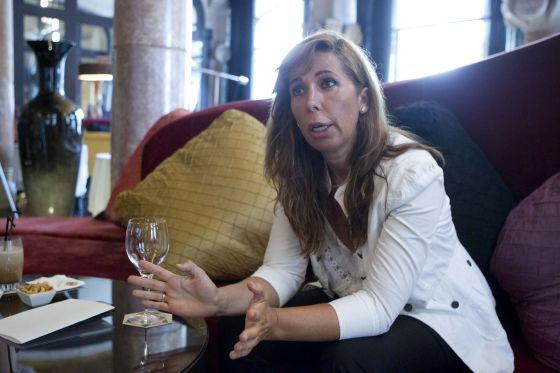 La presidenta del Partido Popular de Cataluña, durante la entrevista.