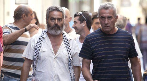 Sánchez Gordillo y Cañamero, antes de su comparecencia ante la prensa en Cádiz.