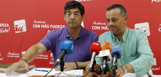 Valdreas y Castro, antes de su intervención de ayer en Sevilla.