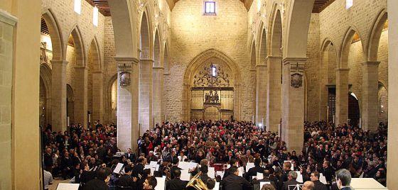 Un momento de la inauguración de la iglesia restaurada de Santa María de Úbeda, el 21 de abril del año pasado.
