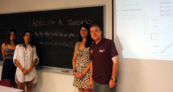 Miembros del equipo de investigadores en la Universidad Politécnica de València.