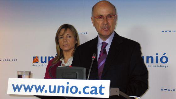 Joana Ortega y Josep Antoni Duran Lleida.
