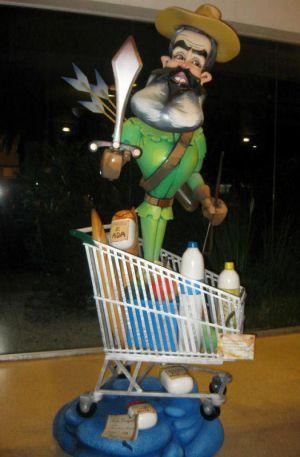 El 'ninot' de Sánchez Gordillo ataviado como Robin Hood.