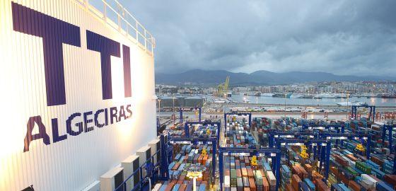 Vista de contenedores en el puerto de Algeciras.