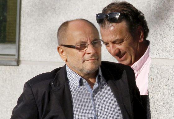 Rodríguez, ayer, entrando en el juzgado de Lugo.