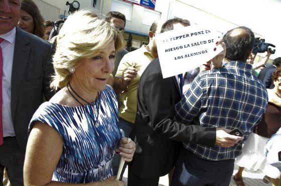 Esperanza Aguirre, en una protesta reciente.