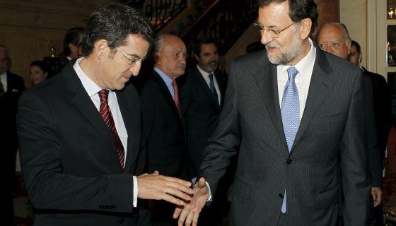 El presidente de la Xunta de Galicia, junto al presidente del Gobierno.