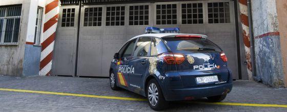 Entrada al depósito donde se almacenaba la droga sustraída en Cádiz.