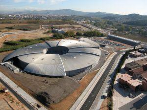 Vista aèria del sincrotró de Cerdanyola, darrera estació, per ara, de la industrializació de Catalunya.