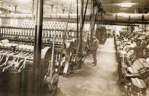 Sala de filatura de la fàbrica Llaudet, de Sant Joan de les Abadesses.
