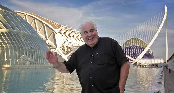 El historiador de la arquitectura William J. R. Curtis, el pasado viernes en la Ciudad de las Artes y de las Ciencias.
