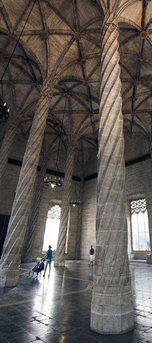 Columnas de la Llotja de Valencia.