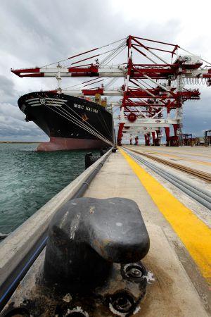 La nueva terminal del puerto de Barcelona, inaugurada el mes pasado.