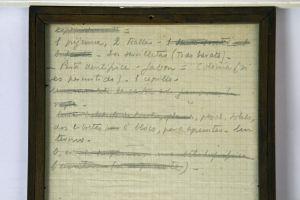 Parte posterior de la carta, con la lista de las cosas que Companys pedía que le llevaran a prisión.