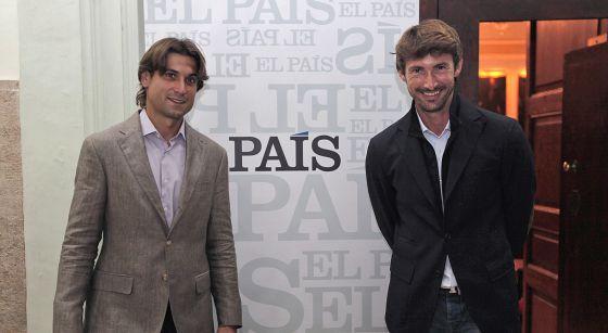 David Ferrer y Juan Carlos Ferrero, en la Nau de la Universitat.