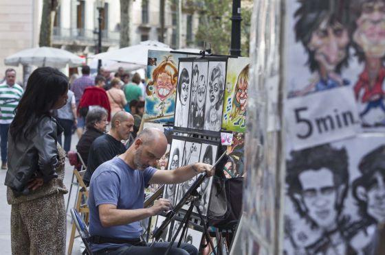 Ciutat vella regular a los pintores de la rambla catalu a el pa s - Pintores de barcelona ...
