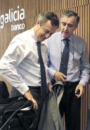 César González y José María Castellano, principales dirigentes del banco