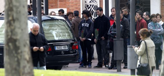Llegada del cadáver de Cristina Arce de la Fuente al crematorio del cementerio de La Almudena.