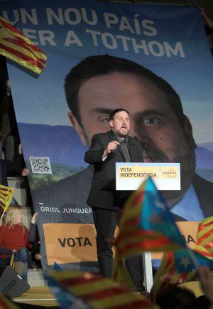 Oriol Junqueras (ERC) empezó la campaña animado por las encuestas.