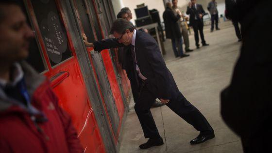 El presidente catalán, Artur Mas, en el inicio de la campaña.
