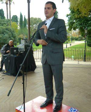 Albert Rivera, en el mitin celebrado en Barcelona.