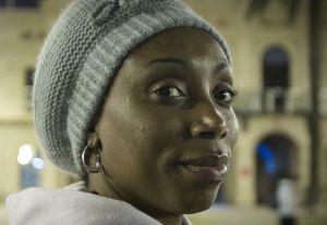 Ogechi, la mujer nigeriana que fue desahuciada hace tres semanas.