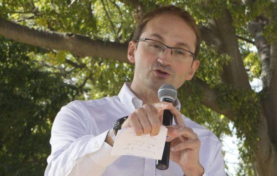 Joan Herrera durante un acto de campaña.