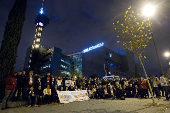 Protestas de los trabajadores de Telemadrid.