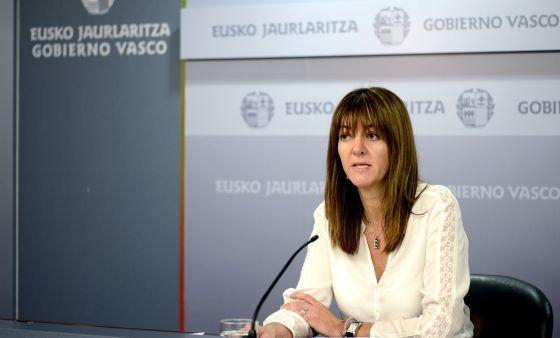 Mendia, en la rueda de prensa tras la reunión del Consejo de Gobierno.