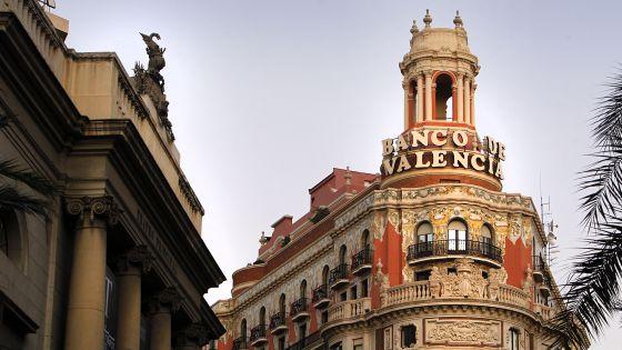El edificio del Banco de Valencia.