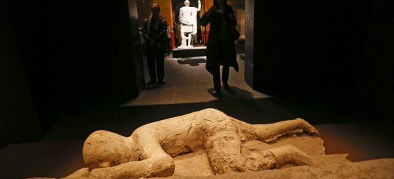 Un aspecto de la muestra 'Pompeya, catástrofe bajo el Vesubio'.