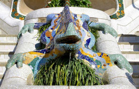 El dragón de la zona monumental del parque Güell