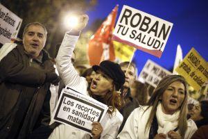 Manifestación por la sanidad pública en Madrid.