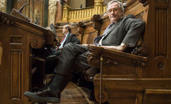 Xavier Trias, alcalde de Barcelona, en el Pleno del Ayuntamiento.