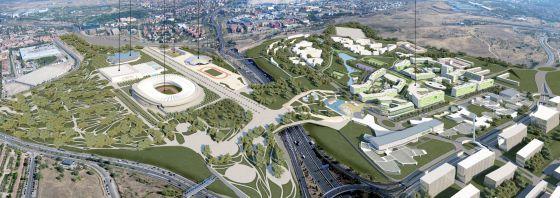 Recreación del futuro parque olímpico.