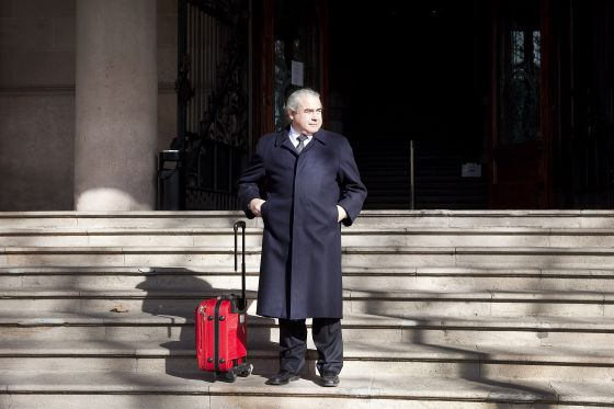 El empresario Fidel Pallerols a las puertas del Palacio de Justicia de Barcelona.